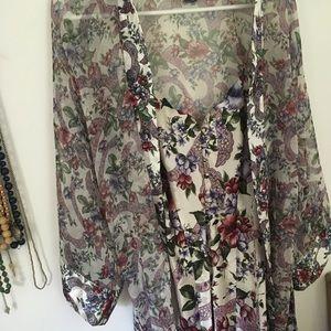 Vintage Victoria's Secret robe and slip